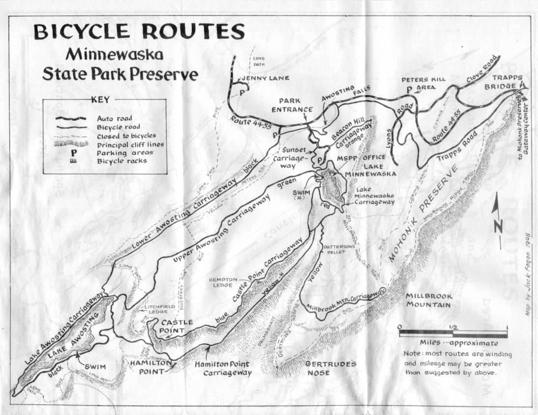 Lake Minnewaska State Park Preserve Hiking Maps