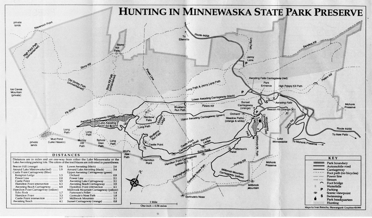 Hunting Pamphlet Map